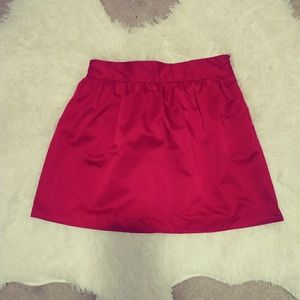 Forever 21 red satin mini skirt